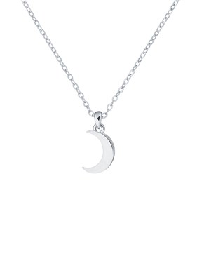 Ted Baker Silver Crescent Moon Necklace  - Click to view larger image