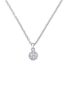Ted Baker Silver Crystal Ball Necklace  - Click to view larger image