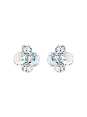 Ted Baker Silver Jewel Cluster Earrings  - Click to view larger image