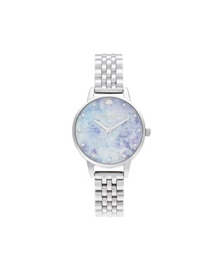 Olivia Burton Silver Under The Sea Glitter Watch  - Click to view larger image