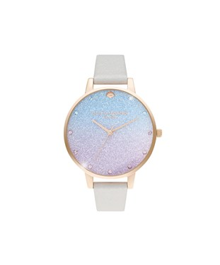 Olivia Burton Rose Gold Glitter Mermaid Watch  - Click to view larger image