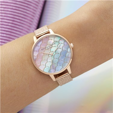 Olivia Burton Under The Sea Rainbow Rose Watch  - Click to view larger image