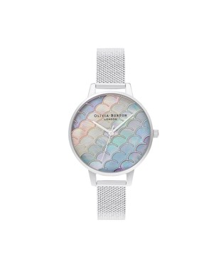 Olivia Burton Under The Sea Rainbow Silver Watch   - Click to view larger image
