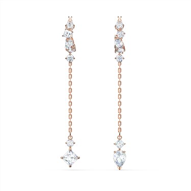 Swarovski Attract Rose Gold Drop Earrings  - Click to view larger image