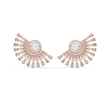Swarovski Sparkling Dance Rose Gold Oversized Earrings  - Click to view larger image