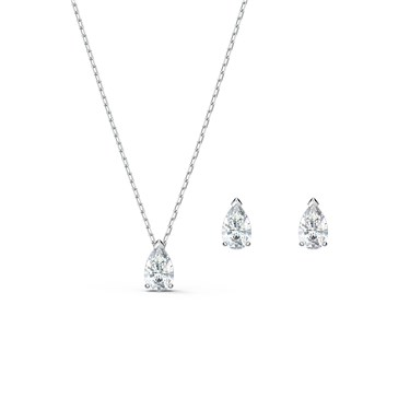 Swarovski Attract Silver Pear Set  - Click to view larger image