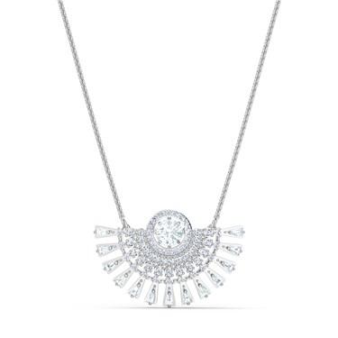 Swarovski Sparkling Dance Medium Silver Necklace  - Click to view larger image