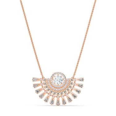 Swarovski Sparkling Dance Medium Rose Gold Necklace  - Click to view larger image
