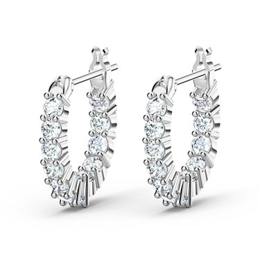 Swarovski Vittore Silver Mini Hoop Earrings  - Click to view larger image