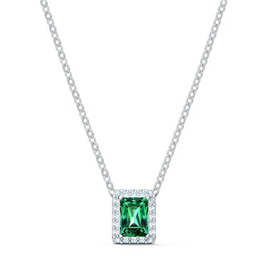 Swarovski Angelic Green Rectangular Necklace  - Click to view larger image