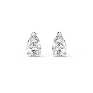 Swarovski Attract Silver Pear Stud Earrings  - Click to view larger image