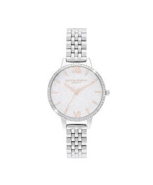 Olivia Burton Silver Sparkle Watch   - Click to view larger image