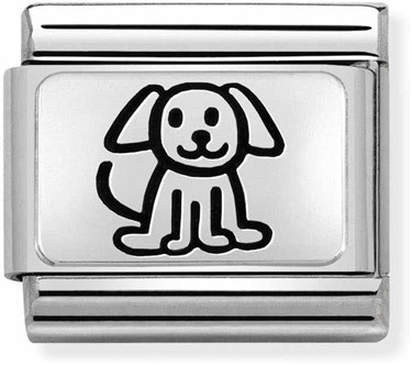 Nomination Silvershine Family Dog Charm  - Click to view larger image