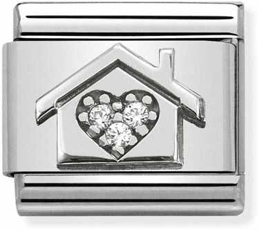 Nomination Silvershine Home Charm   - Click to view larger image
