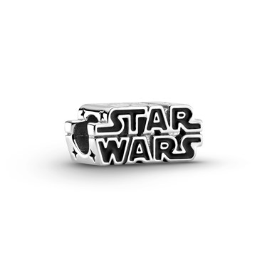 Pandora Star Wars Silver 3D Logo Charm  - Click to view larger image