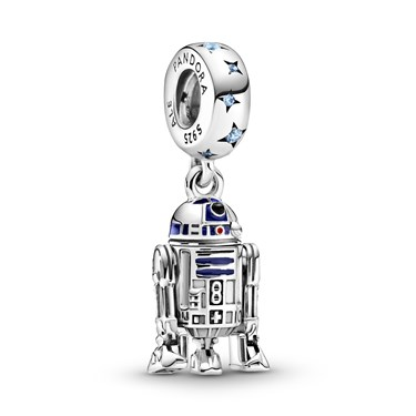 Pandora Star Wars R2-D2 Drop Charm  - Click to view larger image