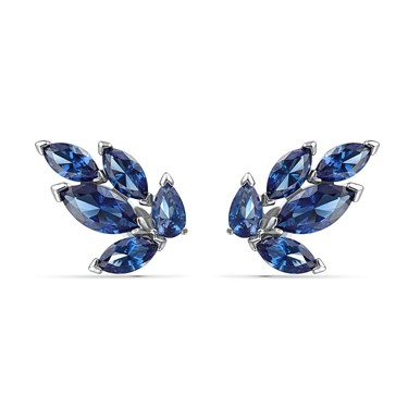 Swarovski Louison Blue Stud Earrings  - Click to view larger image