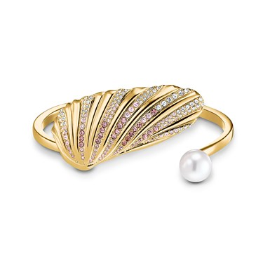 Swarovski Shell Gold Cuff Bracelet   - Click to view larger image