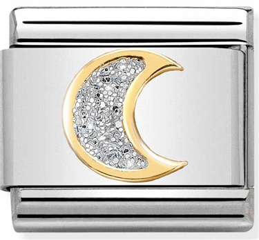Nomination Moon Glitter Charm  - Click to view larger image