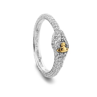 Vivienne Westwood Silver Avalon Snake Ring  - Click to view larger image