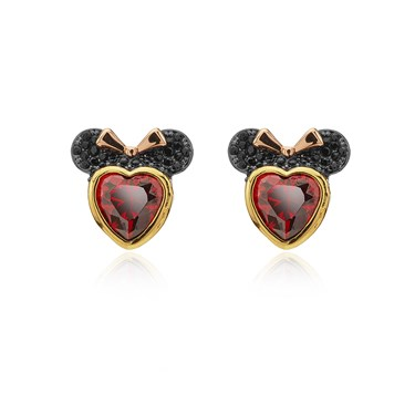 Kate Spade New York Red Crystal Minnie Mouse Earrings  - Click to view larger image