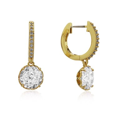 Kate Spade New York Sparkling Huggie Hoop Earrings  - Click to view larger image