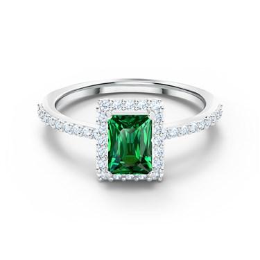 Swarovski Angelic Green Rectangular Ring Size 52  - Click to view larger image