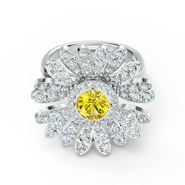 Swarovski Eternal Flower Hinged Ring Size 55  - Click to view larger image