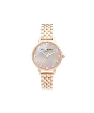Olivia Burton Mother Of Pearl Pale Rose Gold Bracelet Watch  - Click to view larger image