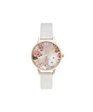 Olivia Burton Midi Shimmer Pearl & Pale Rose Gold Watch  - Click to view larger image