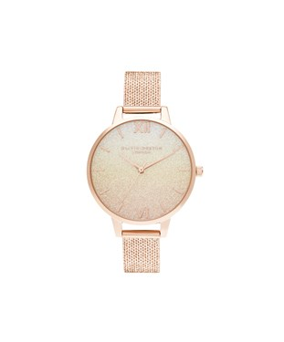 Olivia Burton Sunset Rose Gold Glitter Watch  - Click to view larger image