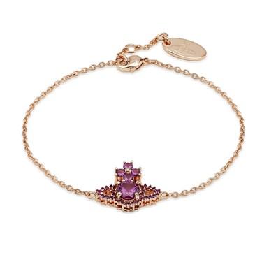 Vivienne Westwood Rose Gold Purple Valentina Bracelet   - Click to view larger image