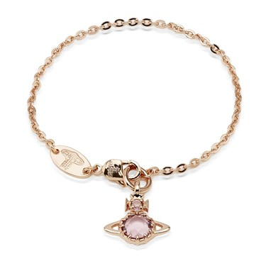 Vivienne Westwood Rose Gold Pink Claretta Bracelet  - Click to view larger image