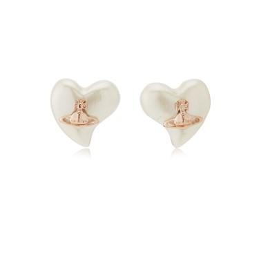 Vivienne Westwood Rose Gold Cream Lynette Earrings  - Click to view larger image