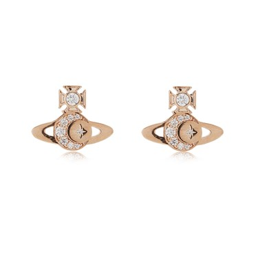 Vivienne Westwood Rose Gold Dorina Earrings  - Click to view larger image