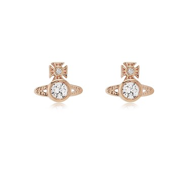 Vivienne Westwood Rose Gold London Earrings  - Click to view larger image