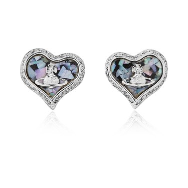 Vivienne Westwood Rhodium Galaxy Petra Earrings   - Click to view larger image