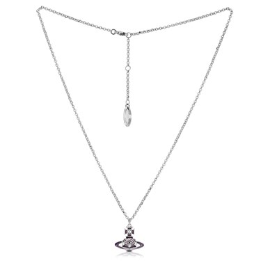 Vivienne Westwood Rhodium Lavender Rodica Necklace  - Click to view larger image