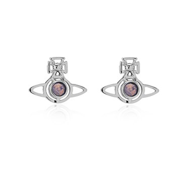 Vivienne Westwood Silver Lavender Opal Nora Earrings  - Click to view larger image