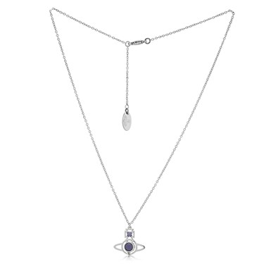 Vivienne Westwood Silver Lavender Opal Nora Necklace  - Click to view larger image