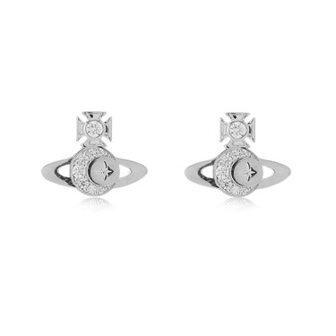 Vivienne Westwood Rhodium Dorina Earrings  - Click to view larger image