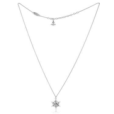 Vivienne Westwood Rhodium Blanka Snowflake Necklace  - Click to view larger image