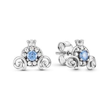 Pandora Disney Cinderella Pumpkin Coach Earrings  - Click to view larger image