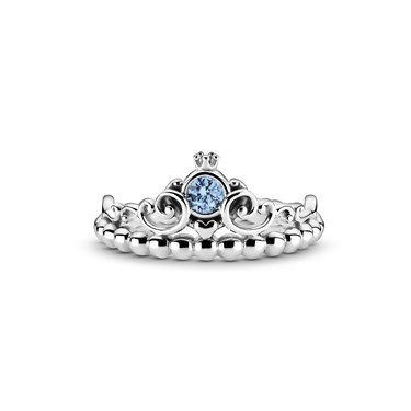 Pandora Disney Cinderella Blue Tiara Ring  - Click to view larger image