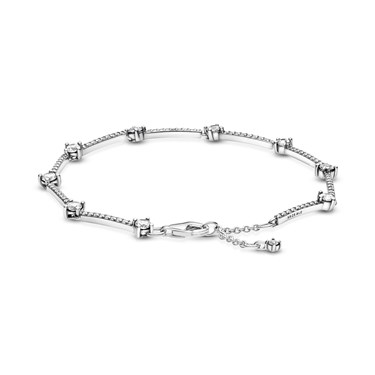 Pandora Sparkling Pave Bars Bracelet  - Click to view larger image