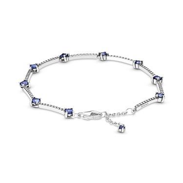 Pandora Blue Sparkling Pave Bars Bracelet  - Click to view larger image