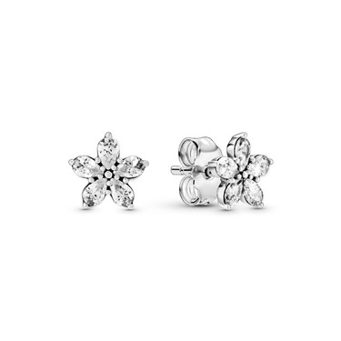 Pandora Sparkling Snowflake Earrings  - Click to view larger image