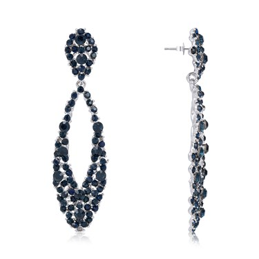 August Woods Navy Sparkle Statement Earrings 1