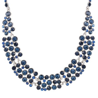 August Woods Navy Sparkle Statement Necklace  - Click to view larger image