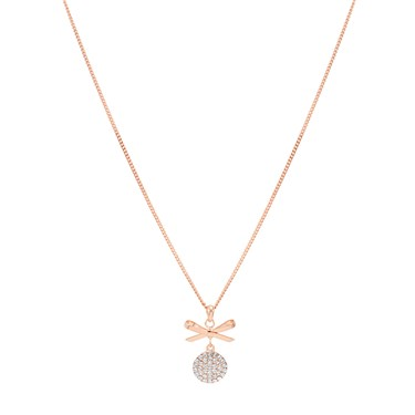 August Woods Rose Gold Crystal Bow Necklace  - Click to view larger image